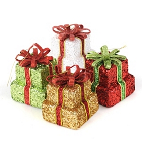 Glitzy Gift Ornaments