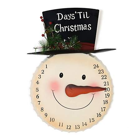 Countdown to christmas snowman kirklands for 36 countdown to christmas snowman yard decoration