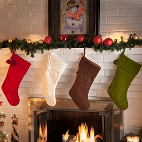 Sweater Knit Holiday Stocking
