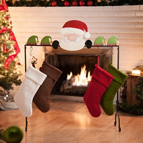 Santa's Helpers Stocking Holder