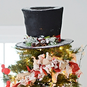 Flocked Top Hat