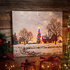 Christmas Barn LED Canvas Art Print