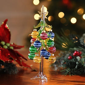 Colorful Glass Christmas Tree