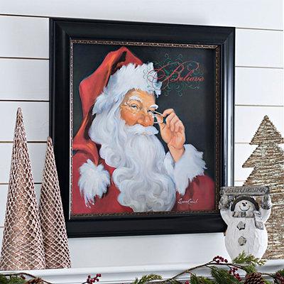 We Believe in Santa Framed Art Print