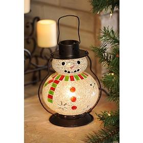 Mosaic Snowman Lantern