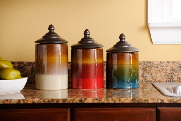 Ceramic Canister, Set of 3