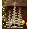 Champagne Spiral Trees, Set of 3