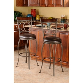 Metal Scroll Bar Stool