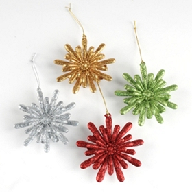 Glitter Burst Snowflake Ornament