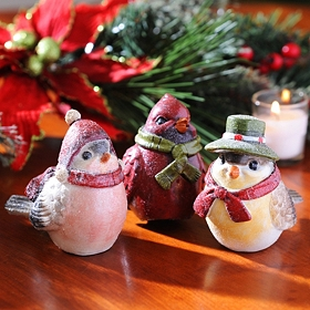 Christmas Birds, Set of 3
