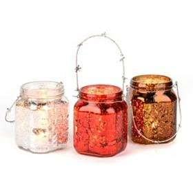 Snowflake Mason Jar Lanterns