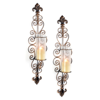 Metal Della Corte Sconce, Set of 2