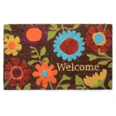 Wildflower Welcome Mat