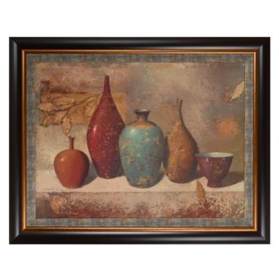 Gilded Vessels Framed Art Print