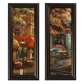 Charlie & Mandi's Corner Cafe Framed Art Print
