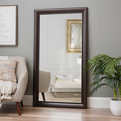 Floor mirror full length mirror kirklands for Decorative floor length mirrors