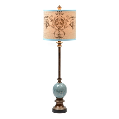 Blue Ceramic Buffet Lamp