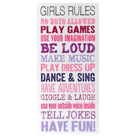 Girls Rules Wall Art