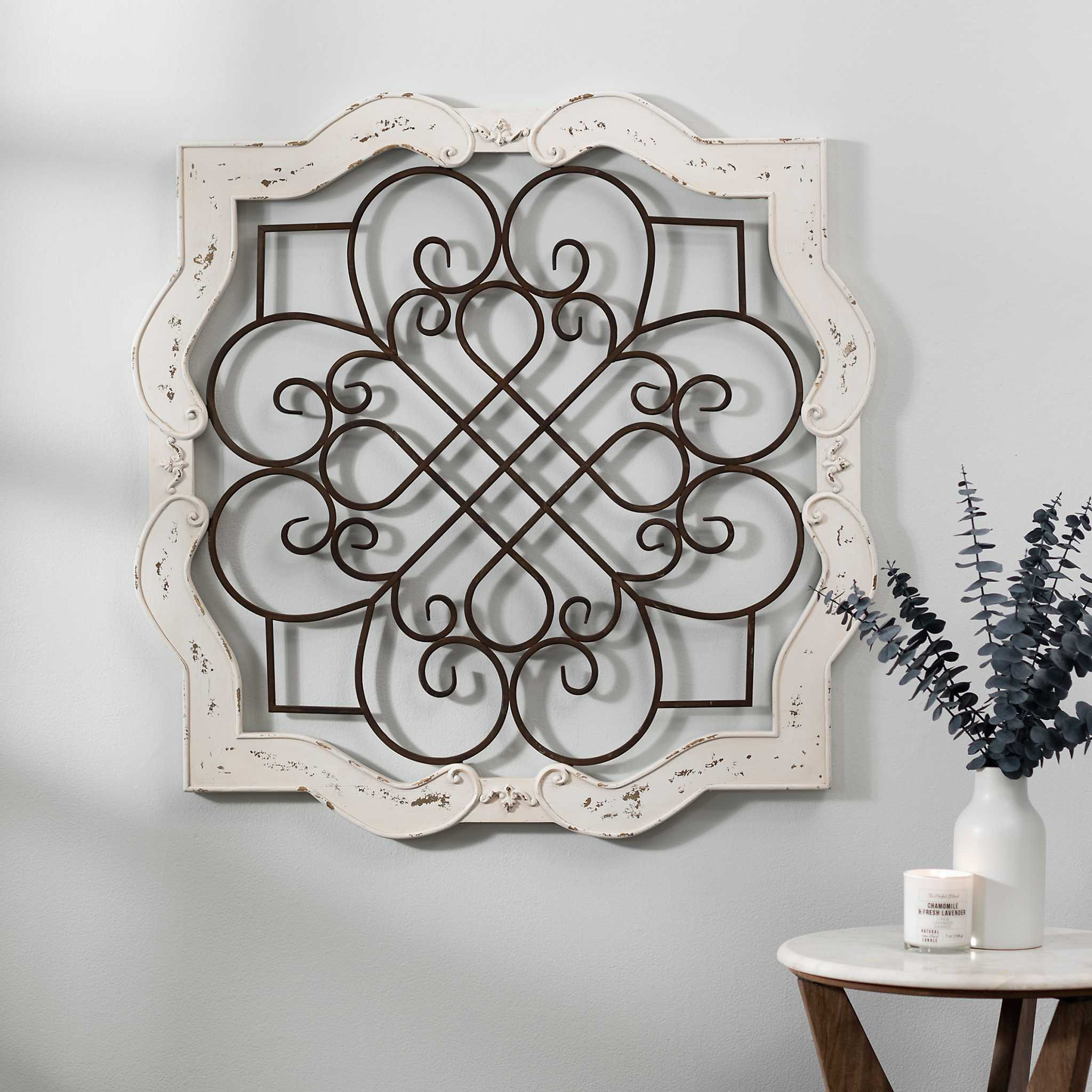 Metal Wall Decor At Kirklands : Wood isabelline plaque kirklands