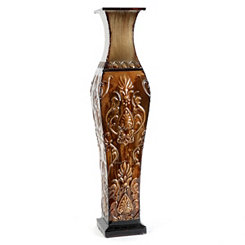 Champagne Metal Floor Vase