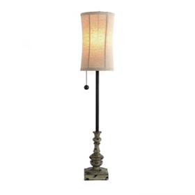 Stone Gray Buffet Lamp