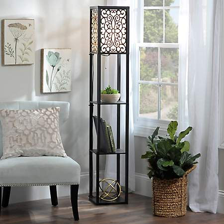 Wallace shelf floor lamp kirklands for Kirklands floor lamp with shelves