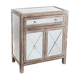 Gray Mirrored Cabinet