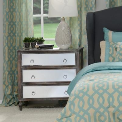 Drawer Dresser With Mirror Mirrored 3-drawer Chest