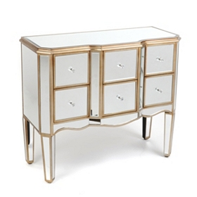 Mirrored 6-Drawer Chest