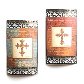 Cross and Scripture Metal Wall Art