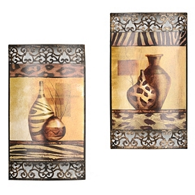 Safari Vase Metal Wall Art