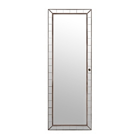 Mirrored Tile Jewelry Armoire Mirror