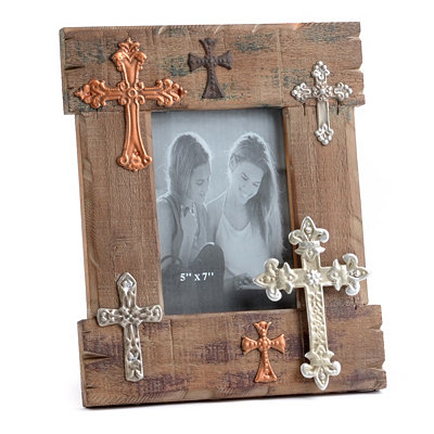 Wood Cross Photo Frame, 5x7