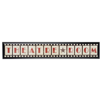 Theatre Room Plaque