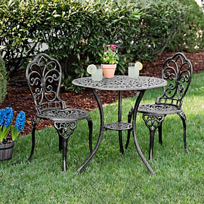 Fleur-de-Lis Cast Iron Bistro, Set of 3