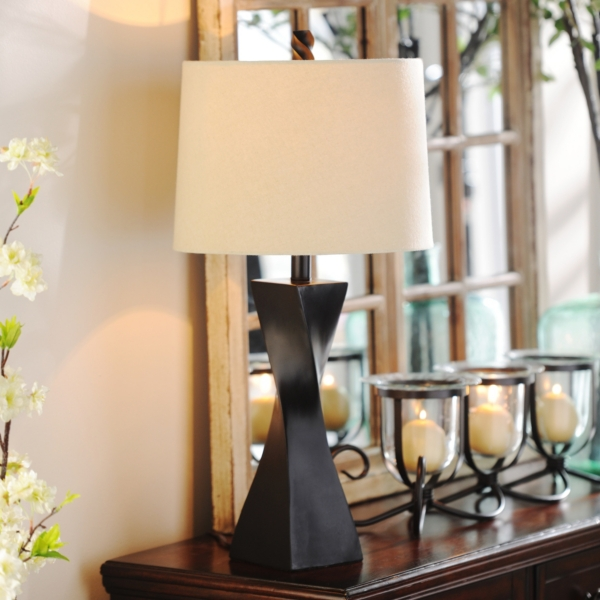 Exceptional Espresso Twist Table Lamp