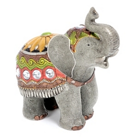 Circus Elephant Jewel Statue