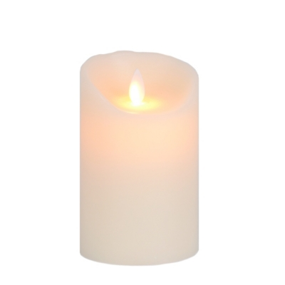 Ivory LED Flameless Candle, 5 in.