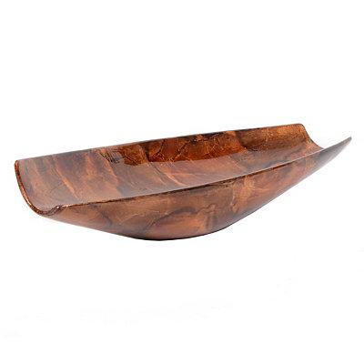Tortoise Oblong Ceramic Bowl