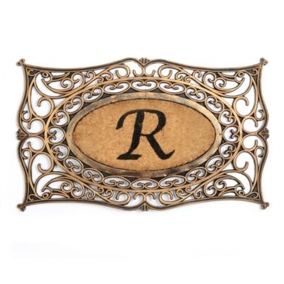 Monogram R Doormat