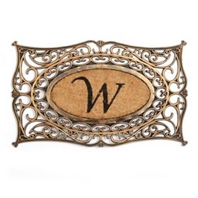 Monogram W Doormat