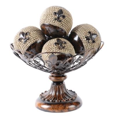 Fleur De Lis Orb Bowl Set