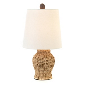 Rattan Table Lamp, 14 in.