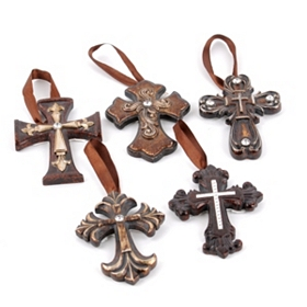 Bronze Ornate Cross Ornament