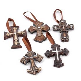 Bronze Ornate Cross Ornament