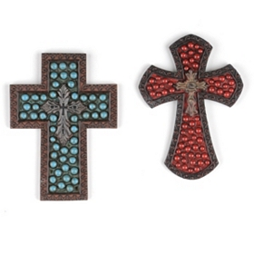 Bronze Beaded Cross