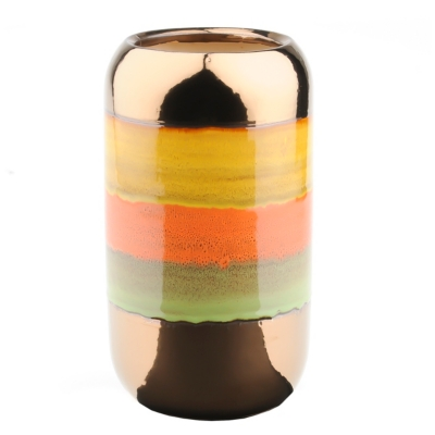 Spice Metallic Stripe Vase