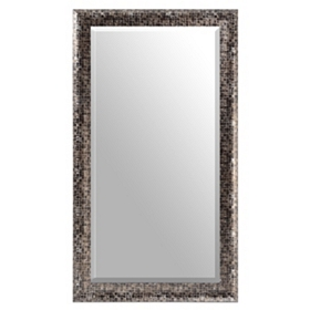 Black Mosaic Full-Length Mirror, 30x54