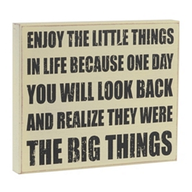 Little Things Plaque