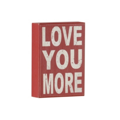 Red Love You More Plaque